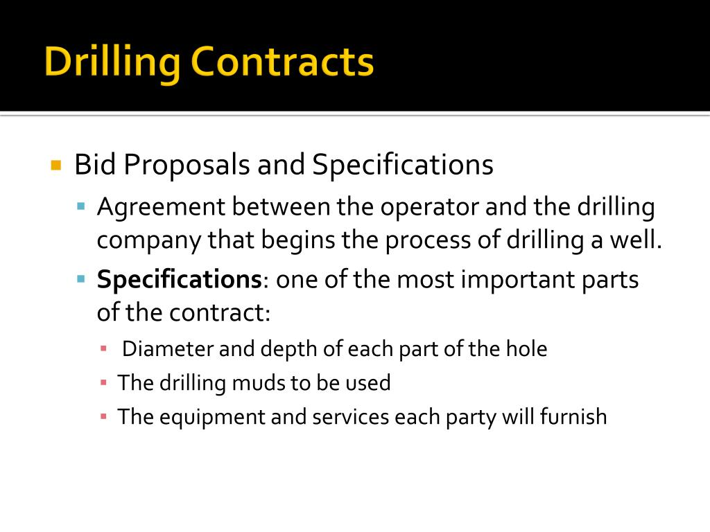 Drilling Contracts