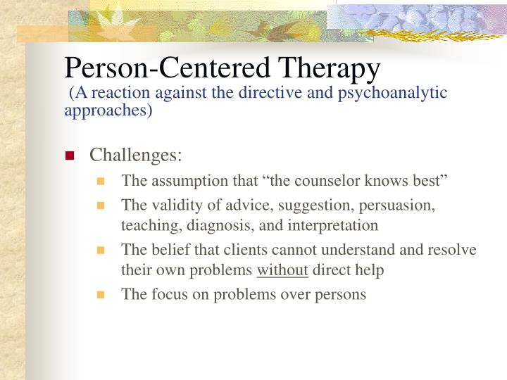 person center therapy approach