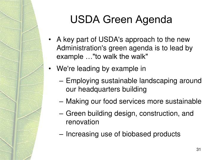 USDA Green Agenda