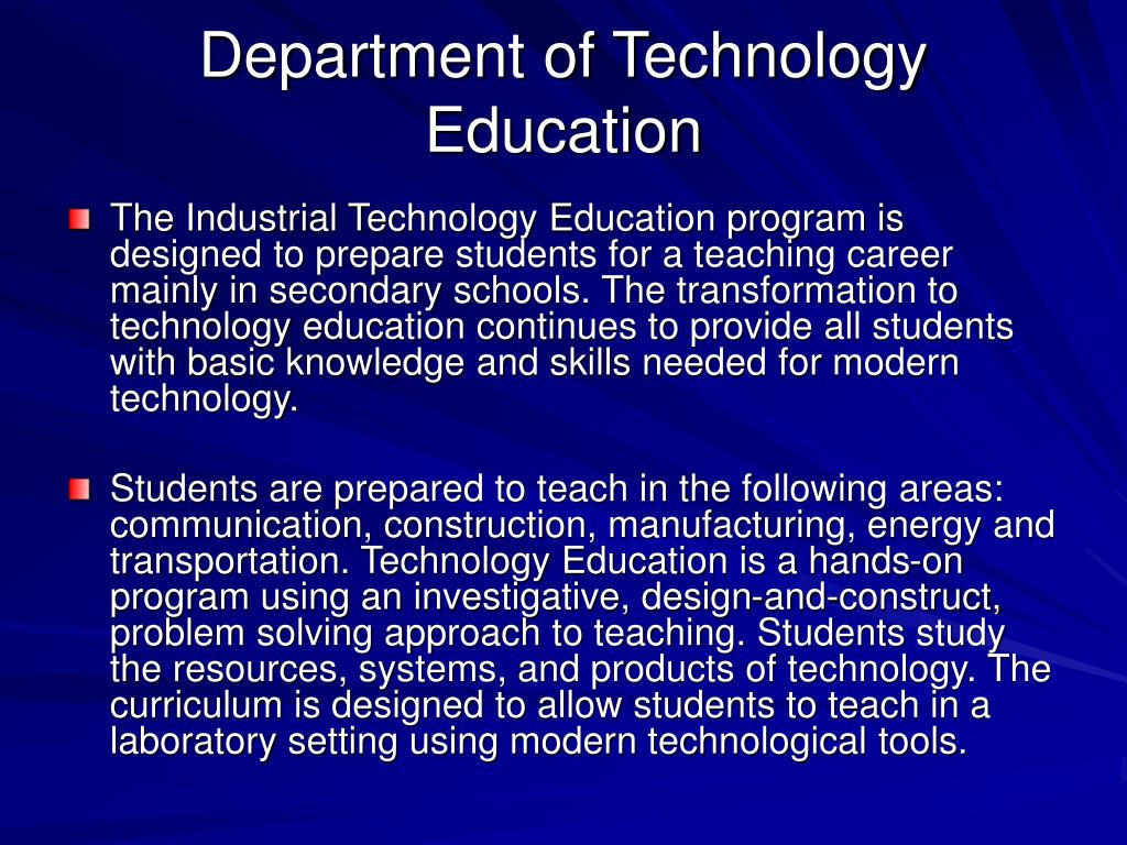Department of Technology Education