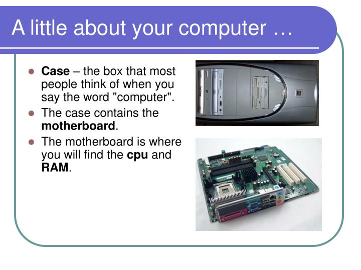 A little about your computer3