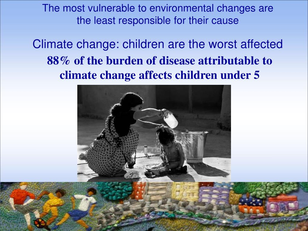 The most vulnerable to environmental changes are the least responsible for their cause