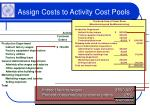 assign costs to activity cost pools30
