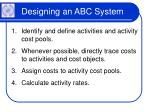 designing an abc system17
