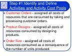 step 1 identify and define activities and activity cost pools23