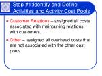 step 1 identify and define activities and activity cost pools24
