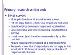 primary research on the web14