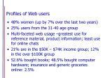 profiles of web users