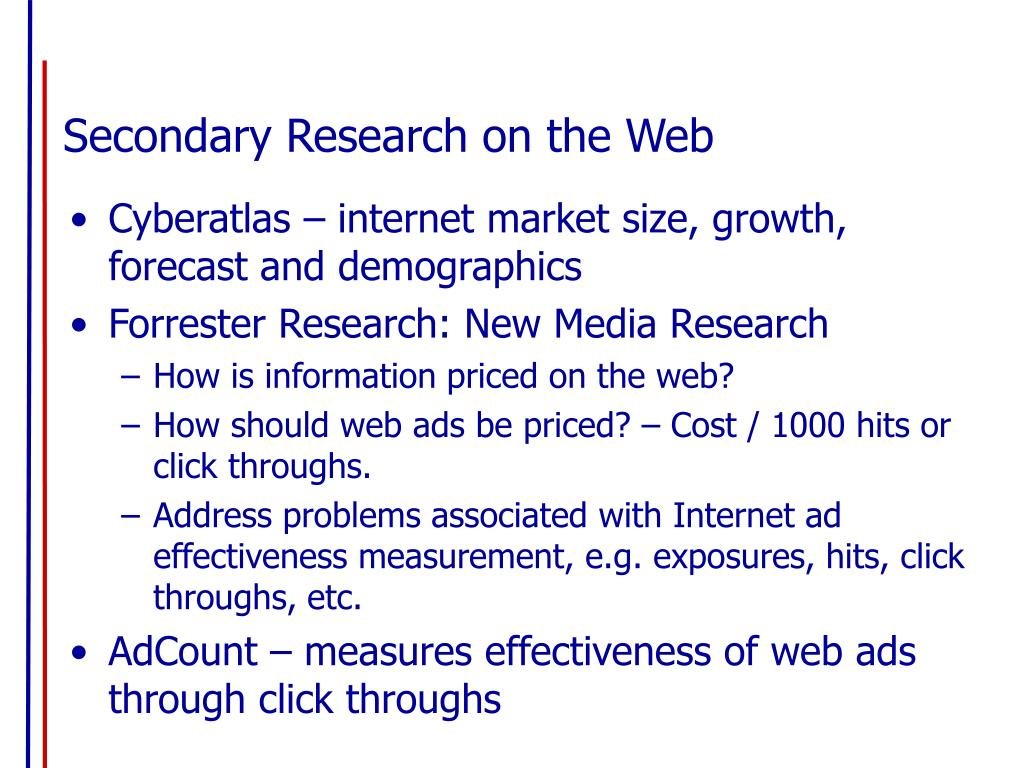 Secondary Research on the Web