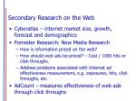 secondary research on the web17
