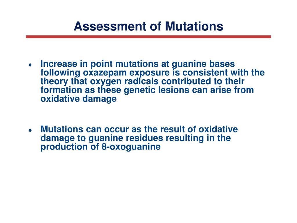 Assessment of Mutations