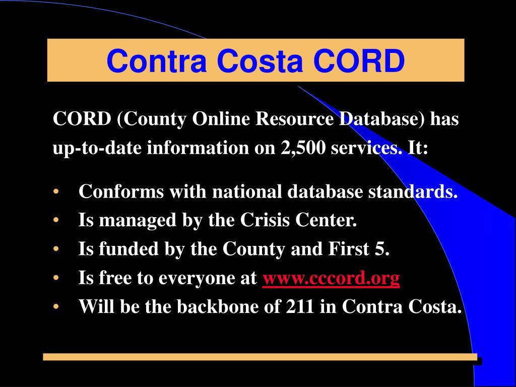 Contra Costa CORD
