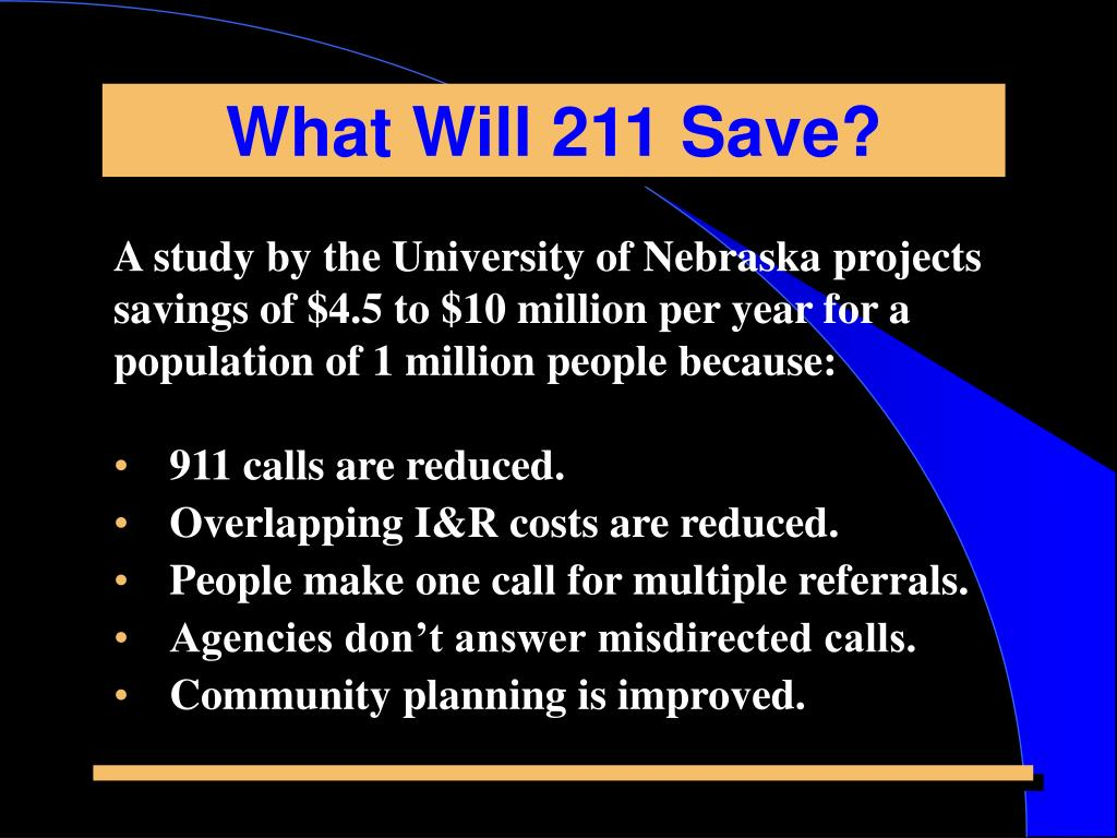 What Will 211 Save?