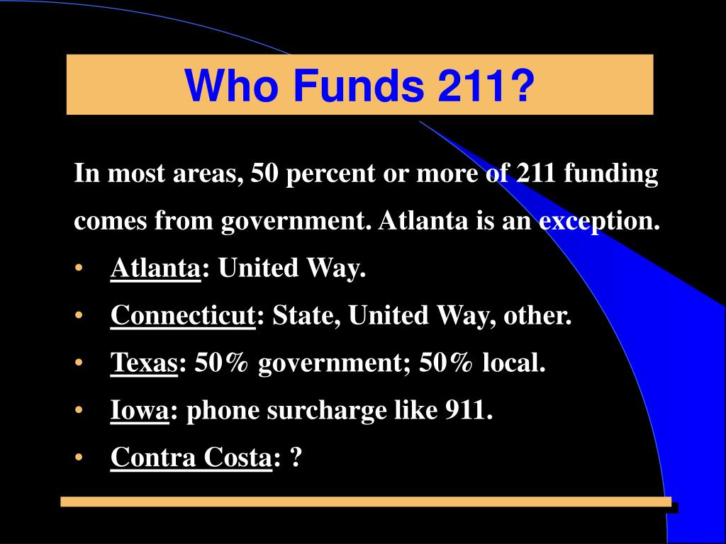 Who Funds 211?