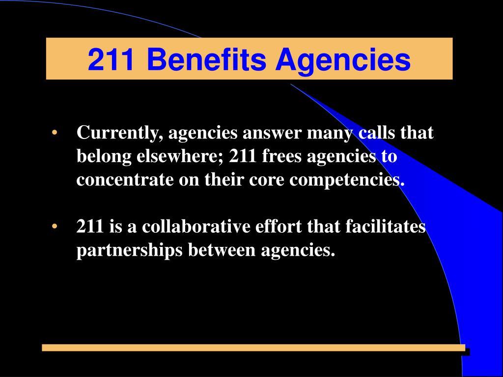 211 Benefits Agencies