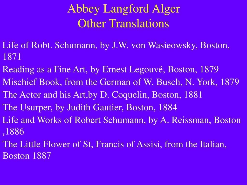 Abbey Langford Alger
