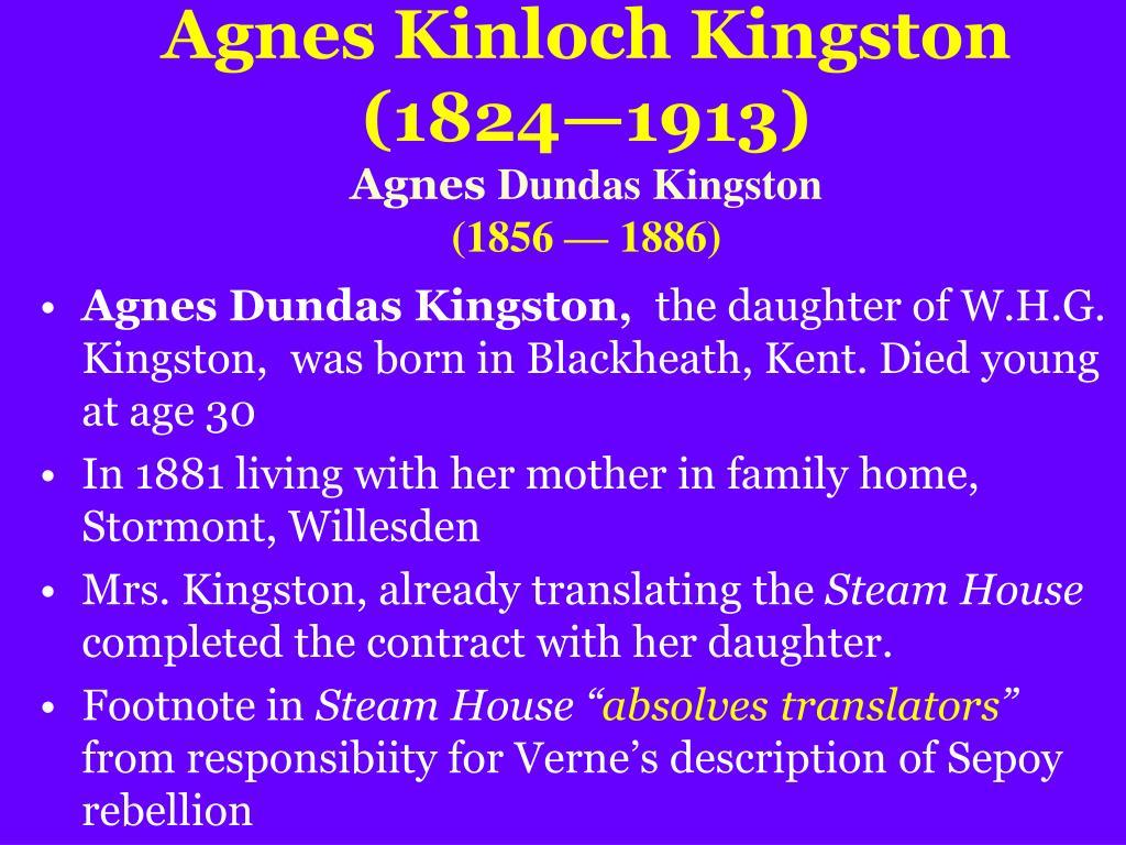 Agnes Kinloch Kingston (1824—1913)