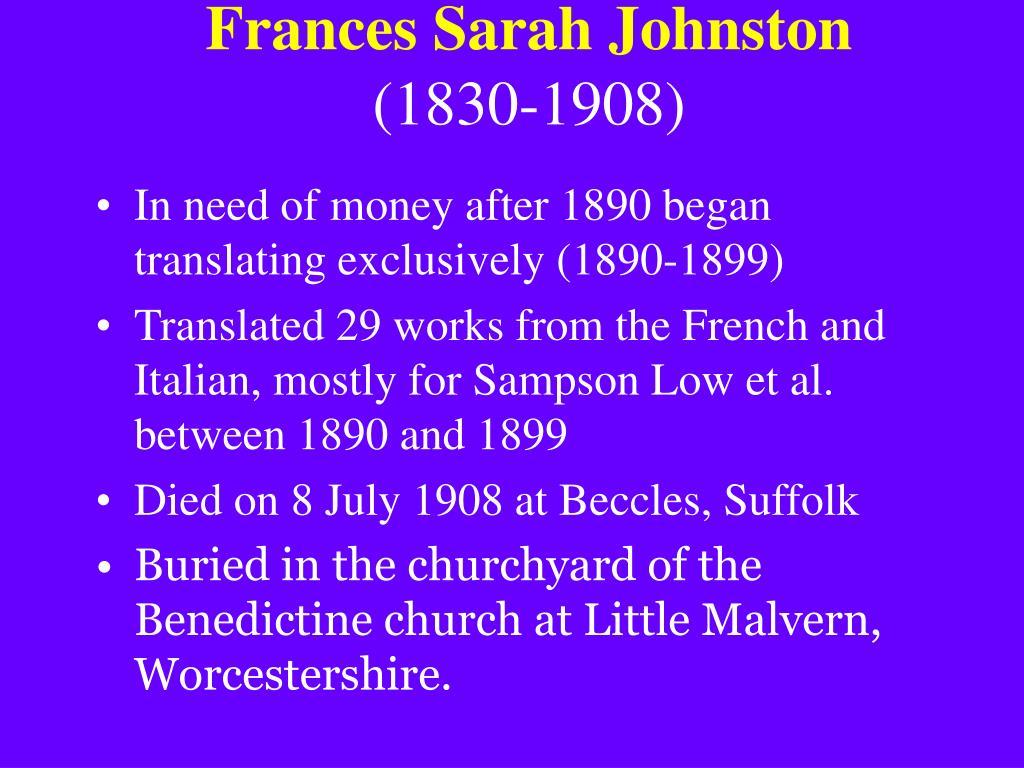 Frances Sarah Johnston