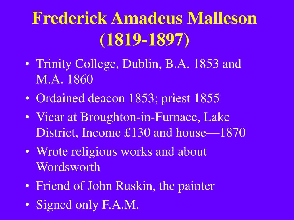 Frederick Amadeus Malleson (1819-1897)