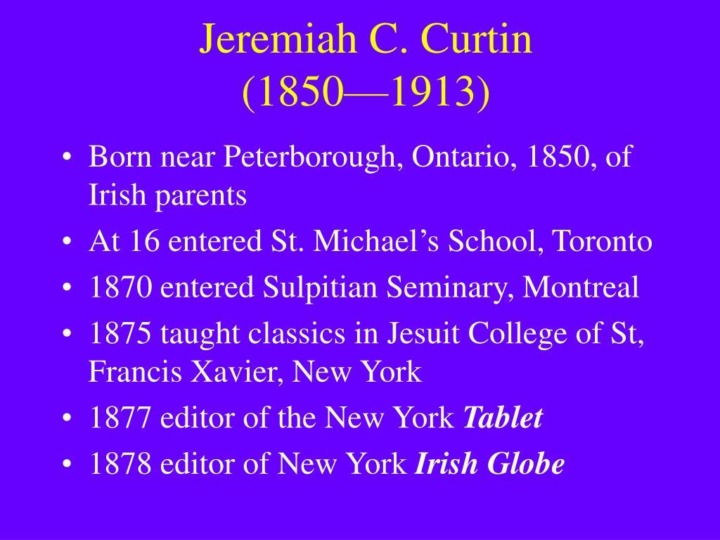 Jeremiah C. Curtin