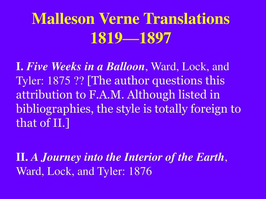 Malleson Verne Translations