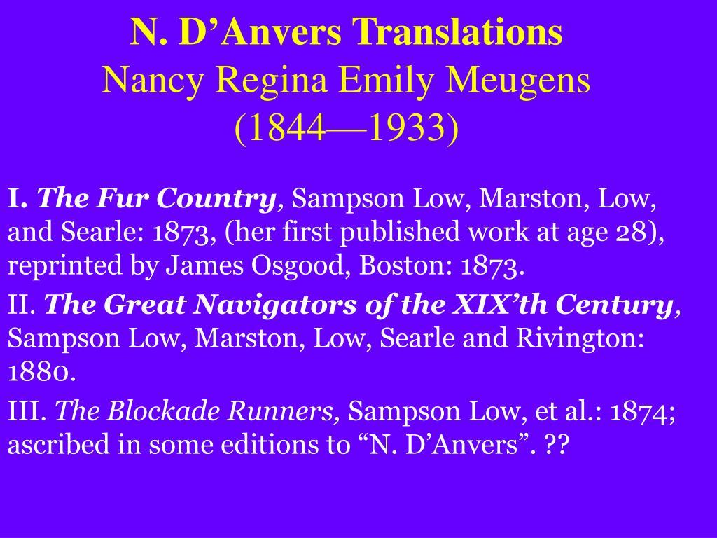 N. D'Anvers Translations