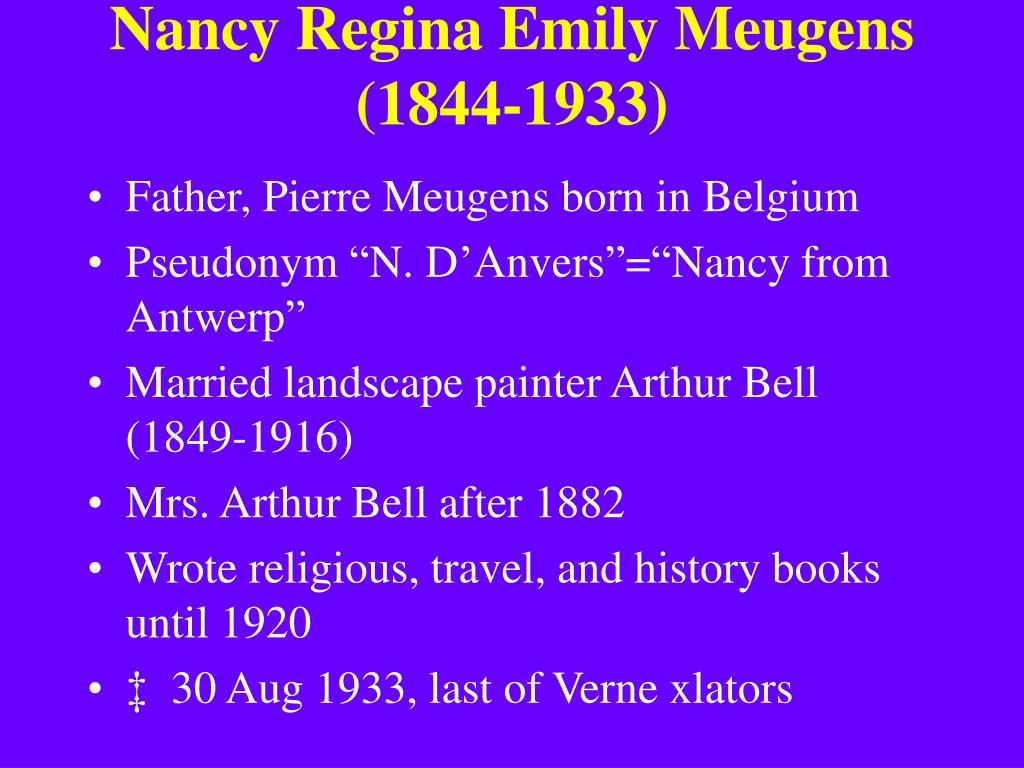 Nancy Regina Emily Meugens (1844-1933)