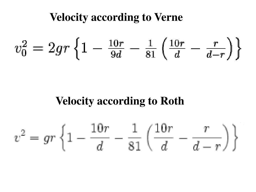 Velocity according to Verne