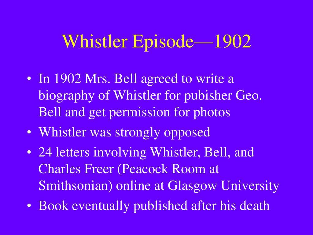 Whistler Episode—1902