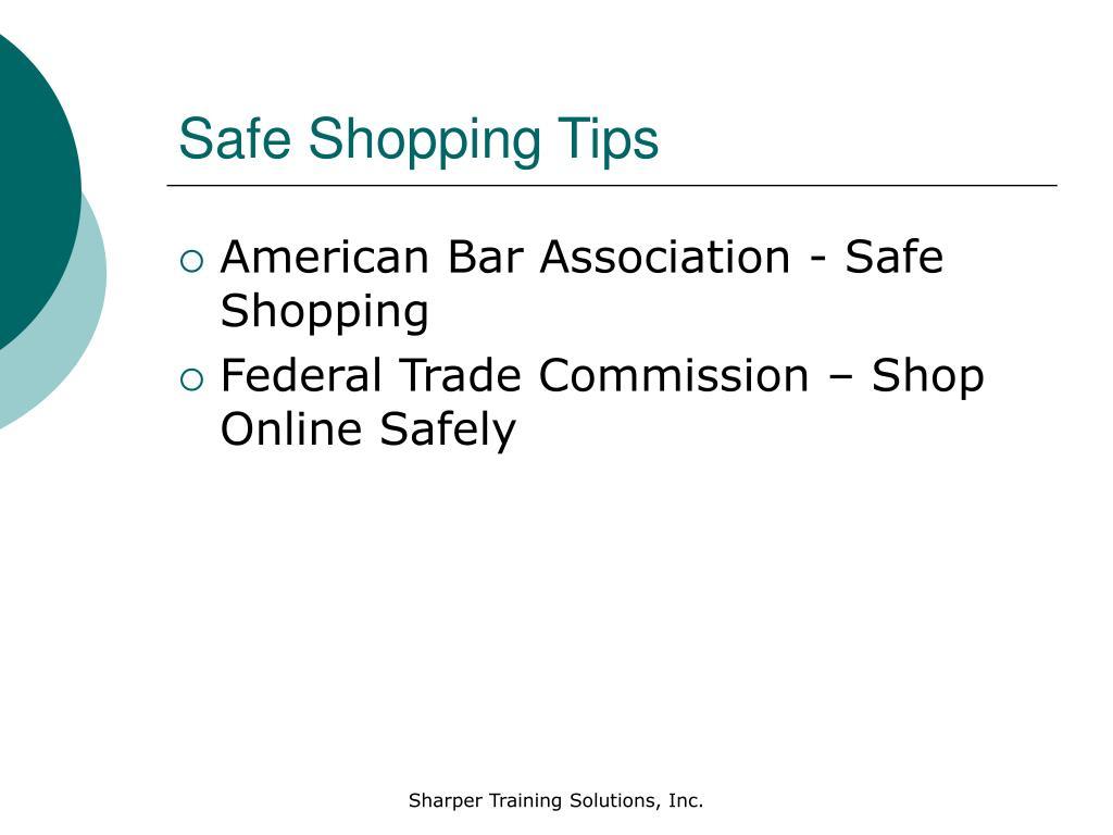Safe Shopping Tips