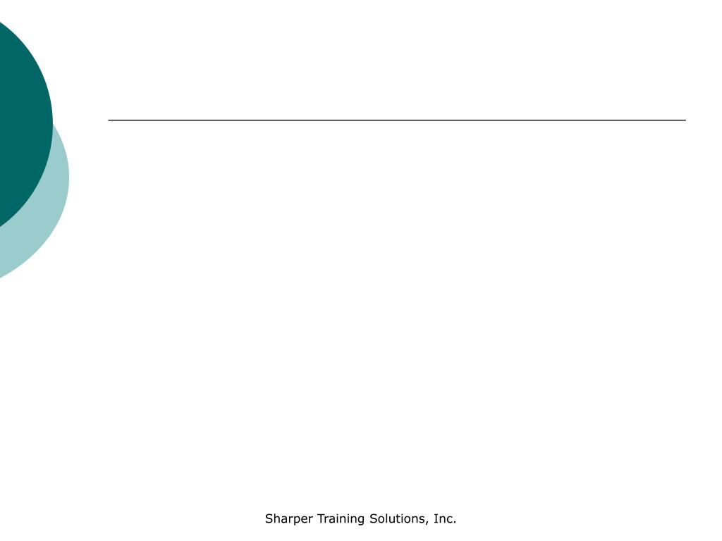 Sharper Training Solutions, Inc.