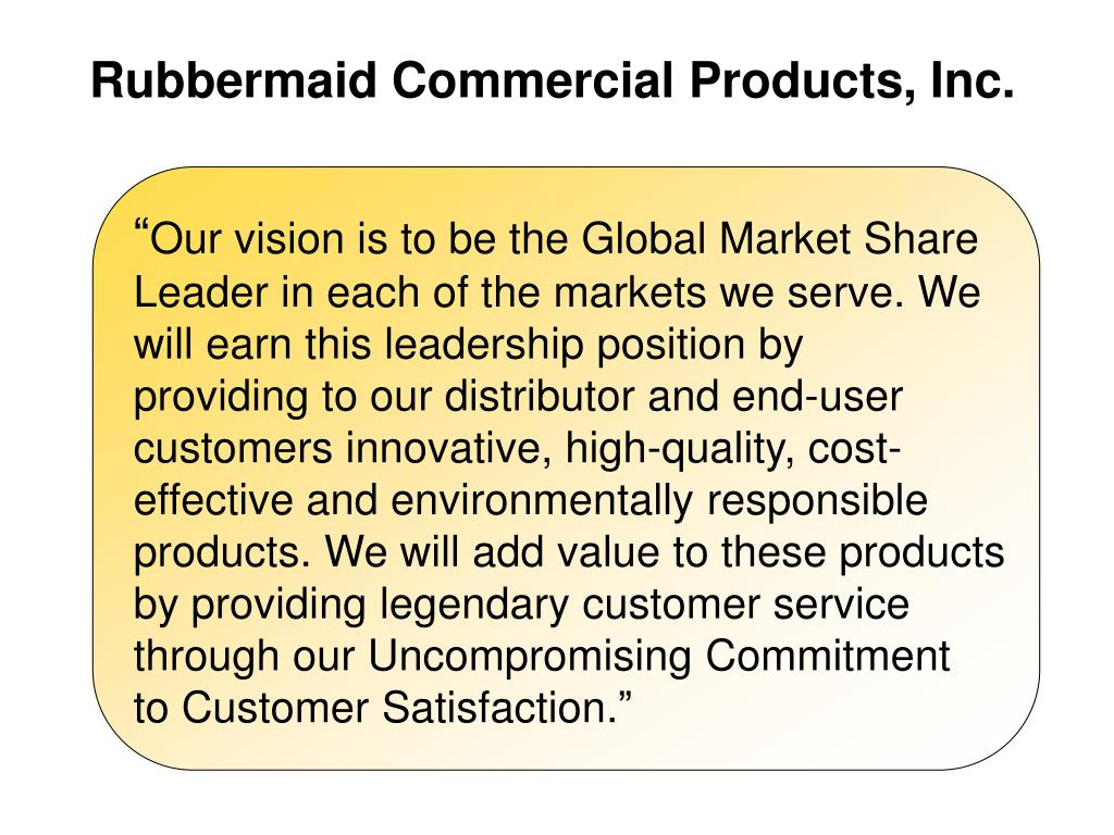 Rubbermaid Commercial Products, Inc.