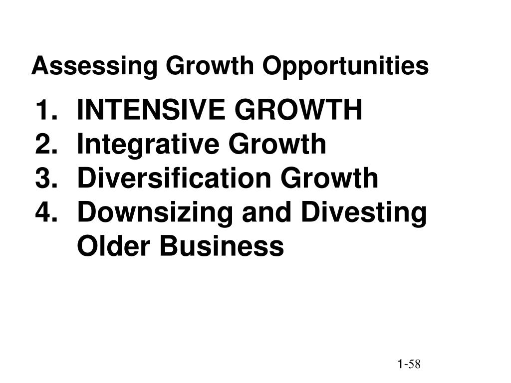 Assessing Growth Opportunities
