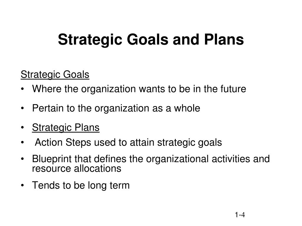Strategic Goals and Plans