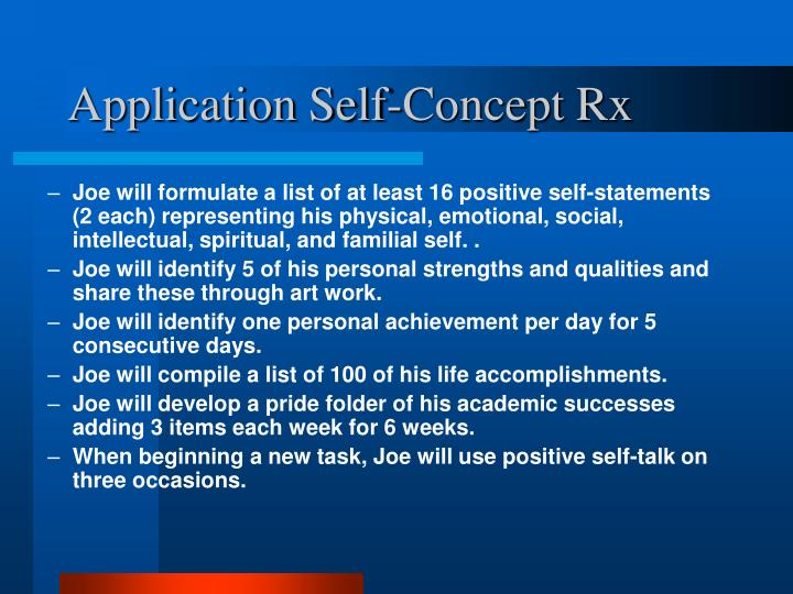 Application Self-Concept Rx