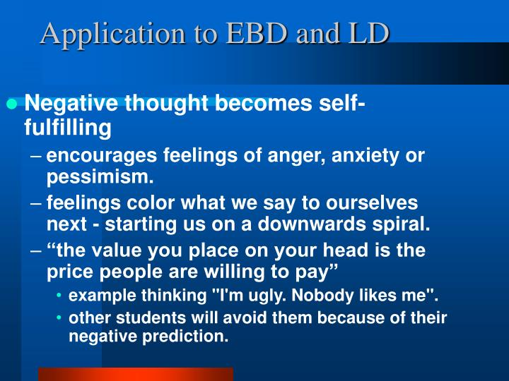 Application to EBD and LD
