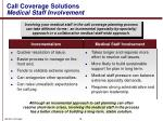 call coverage solutions medical staff involvement