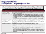 regulatory update oig opinion major implications