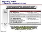 regulatory update oig opinion payment system