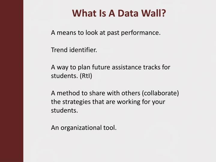 What Is A Data Wall?