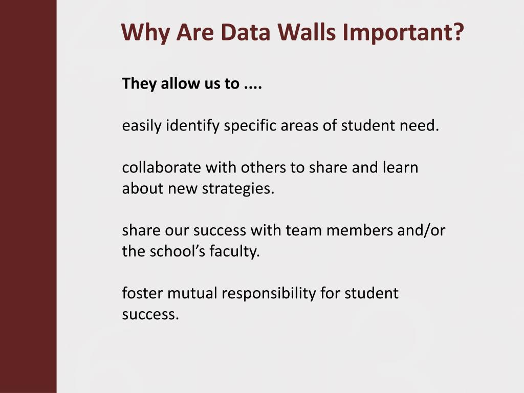Why Are Data Walls Important?
