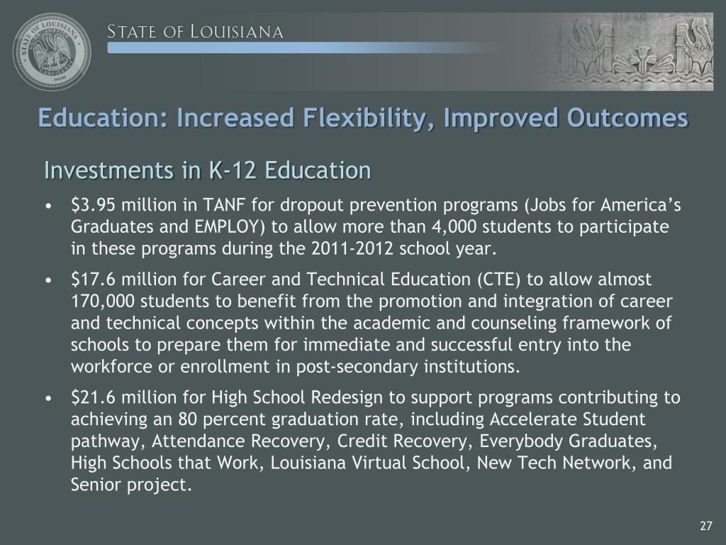 Education: Increased Flexibility, Improved Outcomes