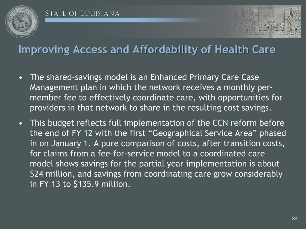 Improving Access and Affordability of Health Care