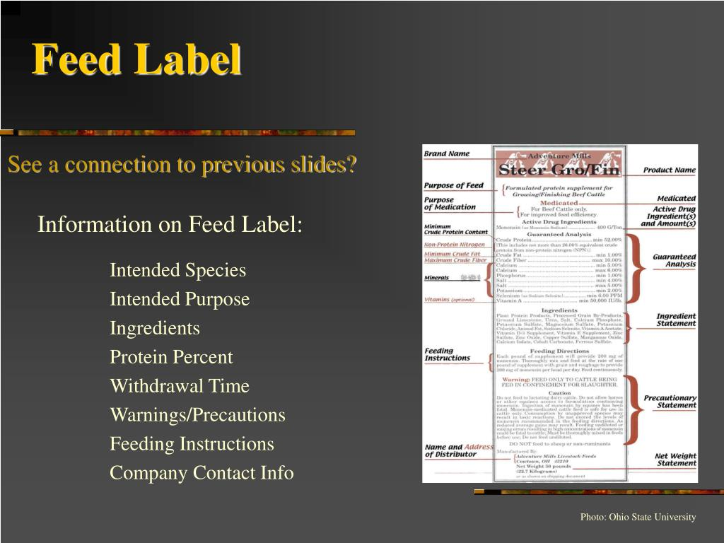 Feed Label