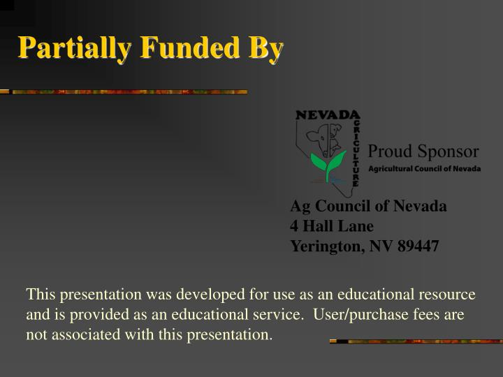 Partially funded by