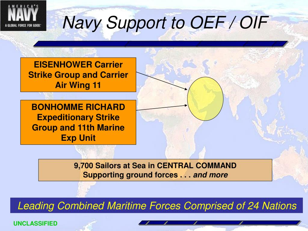 Navy Support to OEF / OIF