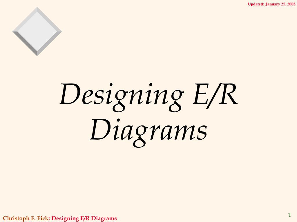 designing e r diagrams