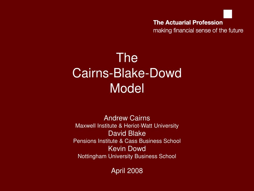 the cairns blake dowd model