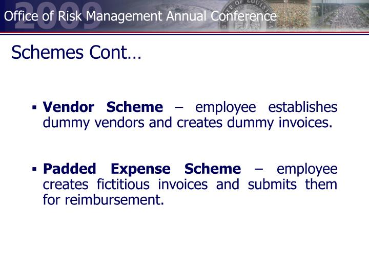 Schemes Cont…