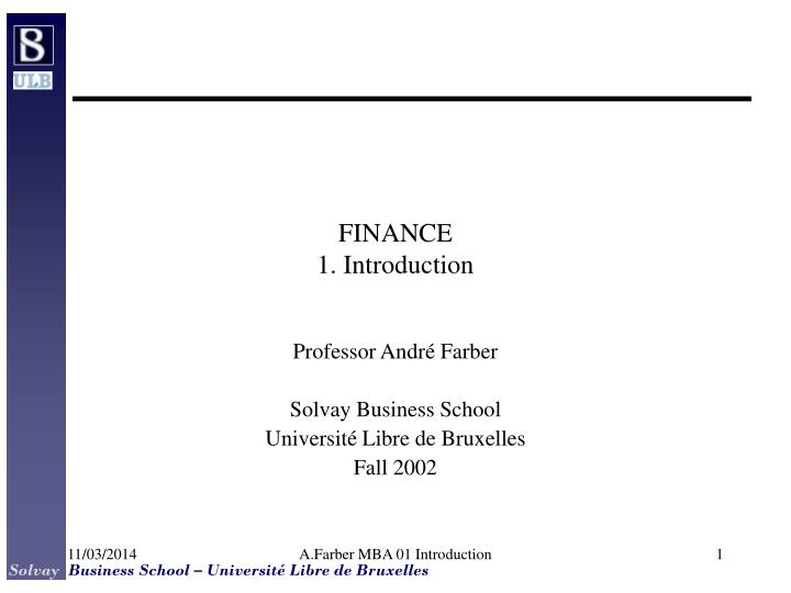 finance 1 introduction n.